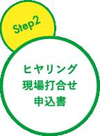 step2 ヒヤリング・現場打合せ・申込書